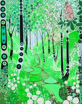 Katie Allen Parkmill woodland print