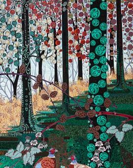 Katie Allen Pheasant Woodland Bird prints