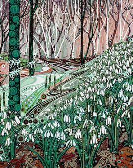 Katie Allen Snowdrop Woodland affordable art