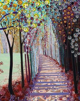 Katie Allen Somewhere Inbetween. woodland print