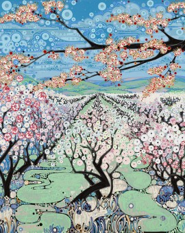 Katie Allen Spring Orchard seasonal art