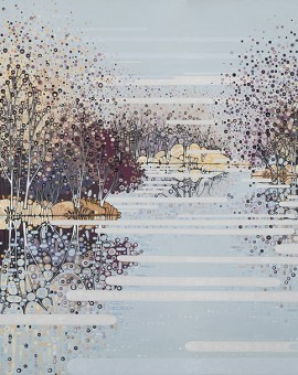 Katie Allen Winter-Reflections-Oxwitch Marsh lake prints