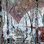 Katie Allen Winter Valley woodland print