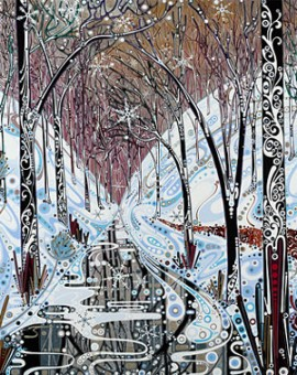 Katie Allen Winter Valley woodland print
