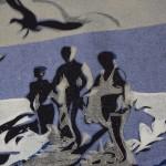 Lisa Takahashi, The Surfers, Limited Edition Linocut Print