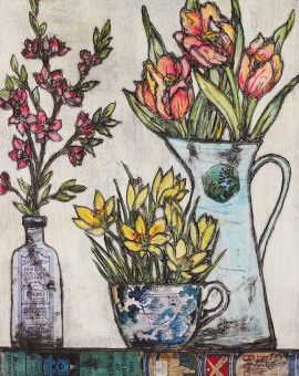 Vicky Oldfield, Spring selection, Wychwood Art, Original Print, Royal Academy Summer Exhibition Artist