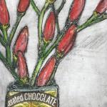 Vicky Oldfield, Chilli chocolate 1,  Wychwood Art, Original Print,  Royal Academy Summer Exhibition Artist