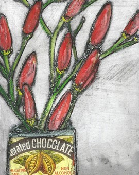 Vicky Oldfield, Chilli chocolate 1,  Wychwood Art, Original Print,  Royal Academy Summer Exhibition Artist