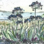 Vicky Oldfield, Cornwall Summer, Wychwood Art, Original Print,  Royal Academy Summer Exhibition Artist