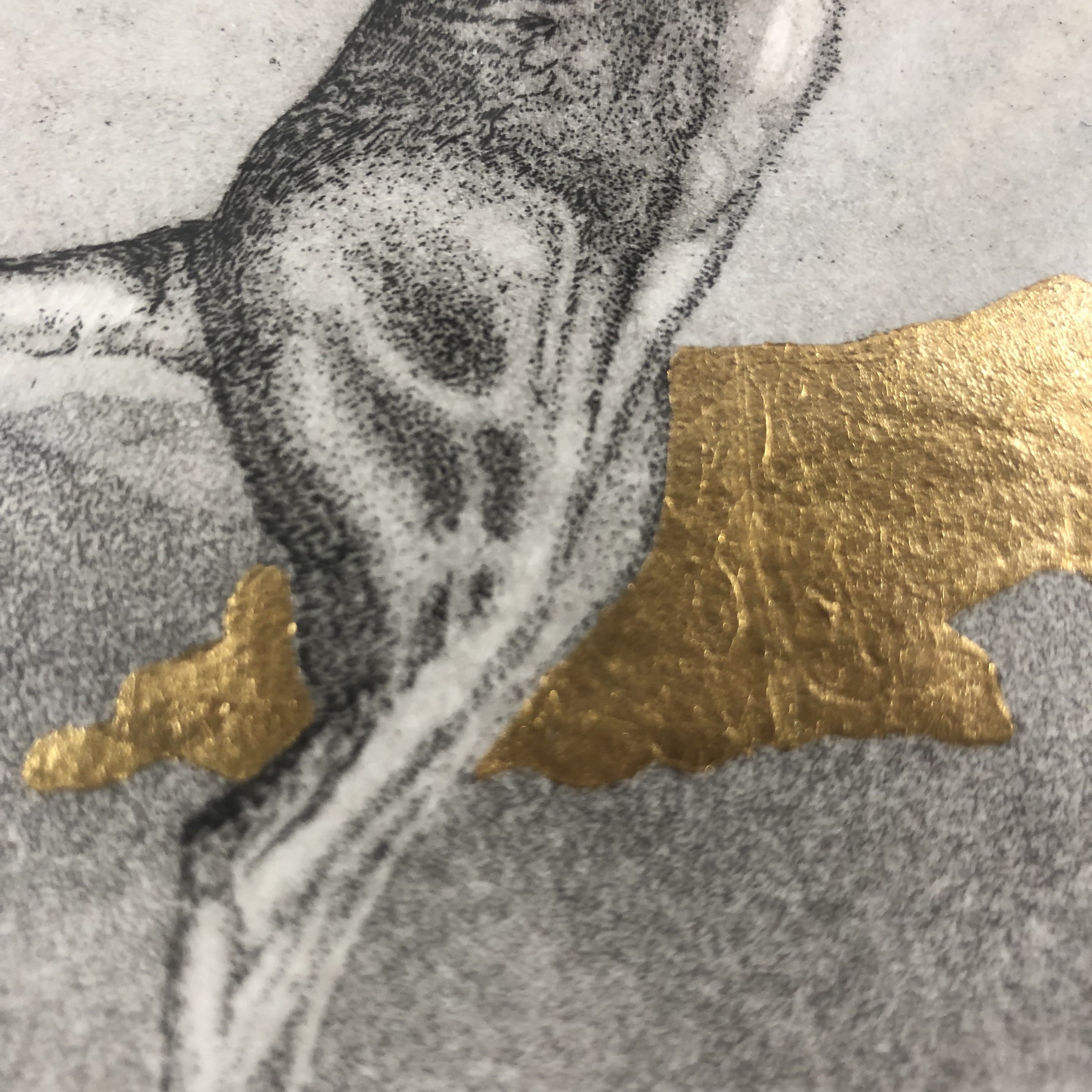Limited edition etching, aquatint and gold leaf on 300gsm Somerset paper. Edition of 75.