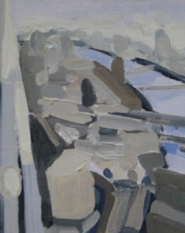 Sarah Adams Shard facing the River Thames Wychwood Art