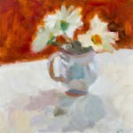 Lynne Cartlidge Wychwoodart Stilllife White Flowers Jug