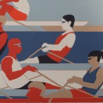 Eliza Southwood, Swimmers, Limited Edition Linocut Print, Art Deco, Sports Art 4