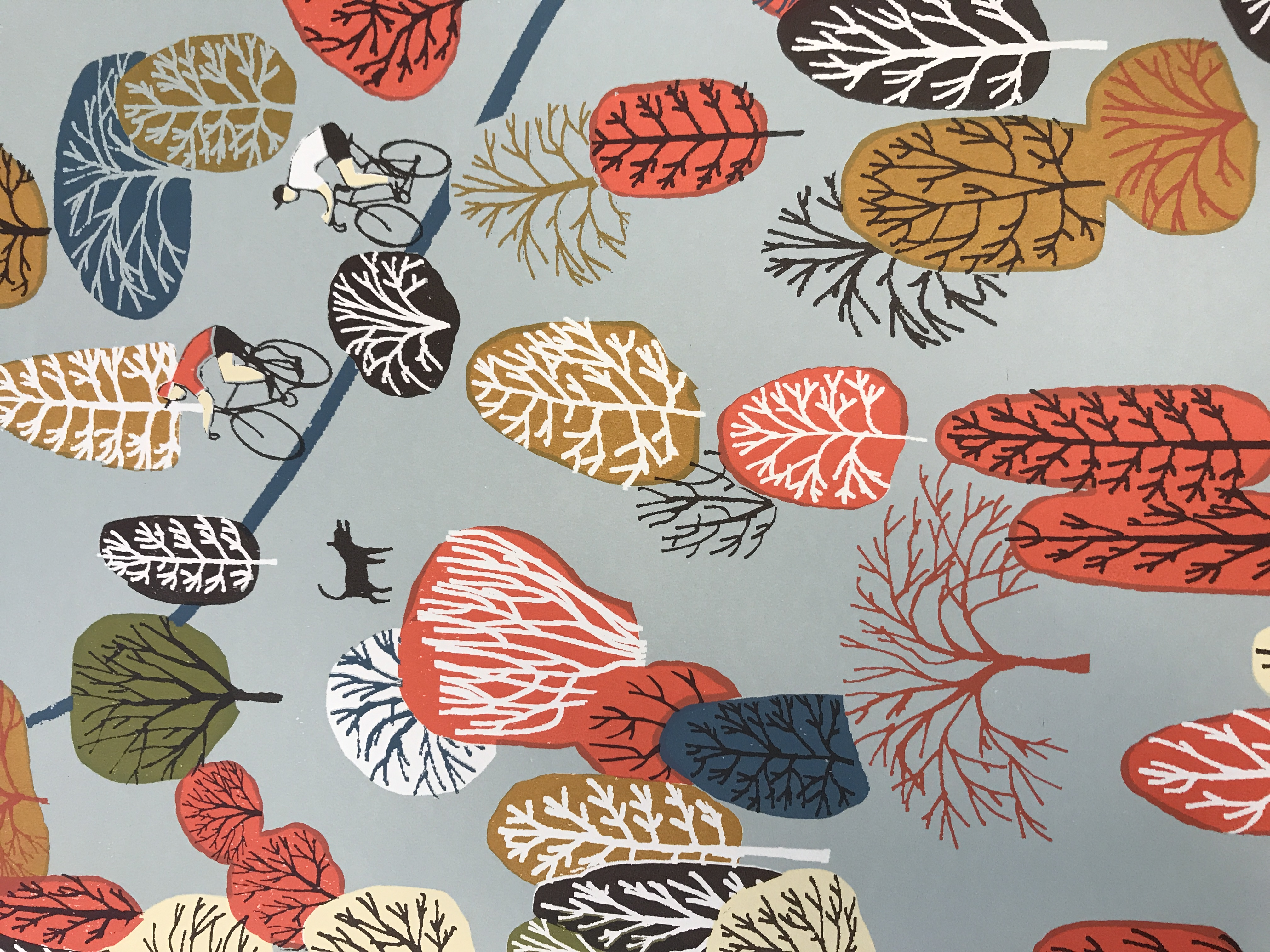 Eliza Southwold's Uphill print unmounted, detail pictured.