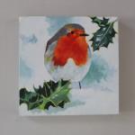 Margaret Crutchley, Christmas Robin, Bird Art, Christmas Gifts, Affordable Art