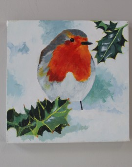 Margaret Crutchley, Christmas Robin, Bird Art, Christmas Gifts, Affordable Art