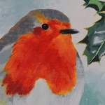 Margaret Crutchley, Christmas Robin, Bird Art, Christmas Gifts, Affordable Art 3