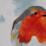 Margaret Crutchley, Christmas Robin, Bird Art, Christmas Gifts, Affordable Art 4