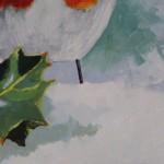 Margaret Crutchley, Christmas Robin, Bird Art, Christmas Gifts, Affordable Art 5
