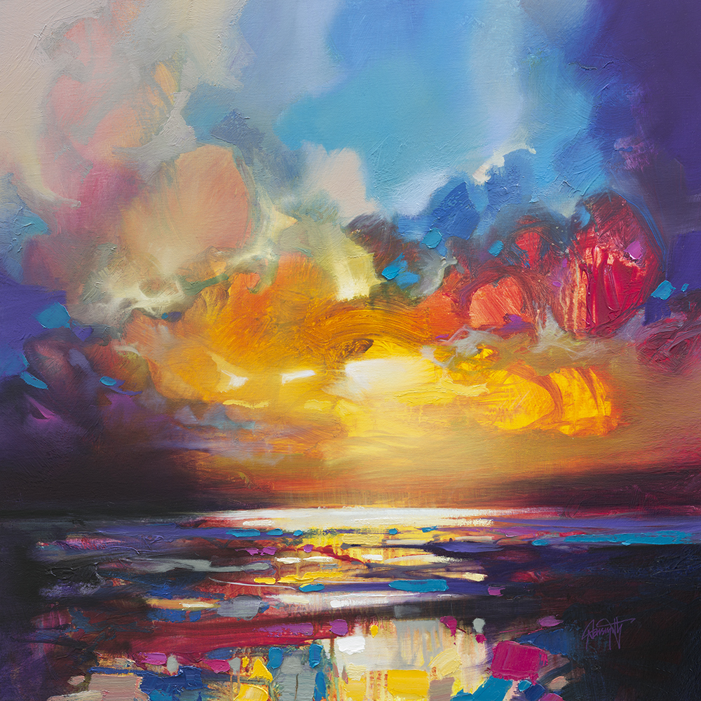 Scott Naismith Landscape Art Northern Lights Bright