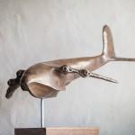 Adam Warwick Hall- WHANOPUS-Bronze resin-2 of 12-View H-Wychwood Art
