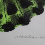 Claire Robinson, Green Butterfly, Silkscreen Print 3