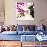 Corinne Natel-Dream Clouds-abstract painting-interior setting