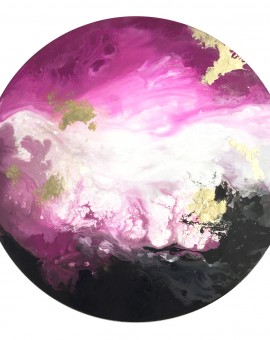 Corinne Natel-Pink Ocean-abstract circle painting