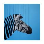 'Fragmented freedom  – blue', Giclee on Somerset Velvet 330gsm Paper, 60x60cm (2015)