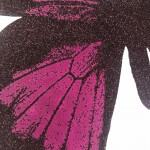 Limited Edition Claire Robinson Butterfly Print for Sale, Papilio Ulysses - Aubergine, Luxurious Art, Diamond Dust Art Prints 12