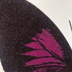 Limited Edition Claire Robinson Butterfly Print for Sale, Papilio Ulysses - Aubergine, Luxurious Art, Diamond Dust Art Prints 3