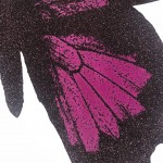Limited Edition Claire Robinson Butterfly Print for Sale, Papilio Ulysses - Aubergine, Luxurious Art, Diamond Dust Art Prints 9