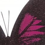 Limited Edition Claire Robinson Butterfly Print for Sale, Papilio Ulysses - Aubergine, Luxurious Art, Diamond Dust Art Prints2