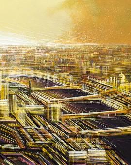 Marc Todd A Golden City London Painting Wychwood Art