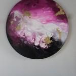 Pink Ocean BY CORINNE NATEL, Original Abstract Painting