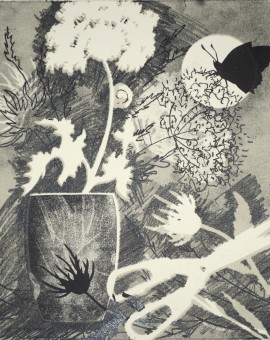 Rosemary Farrer, 'Hogweed and Snail', WychwoodArt.jpeg