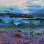Teresa Pemberton Across the Muddy Shore 58x 68cm framed  oil on canvs Wychwood Art