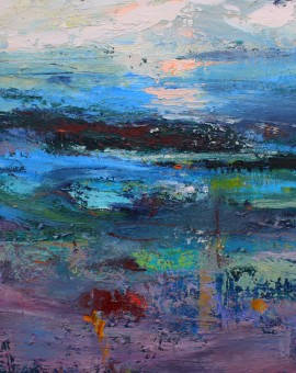 Teresa Pemberton Across the Muddy Shore 58x 68cm framed  oil on canvs Wychwood Art