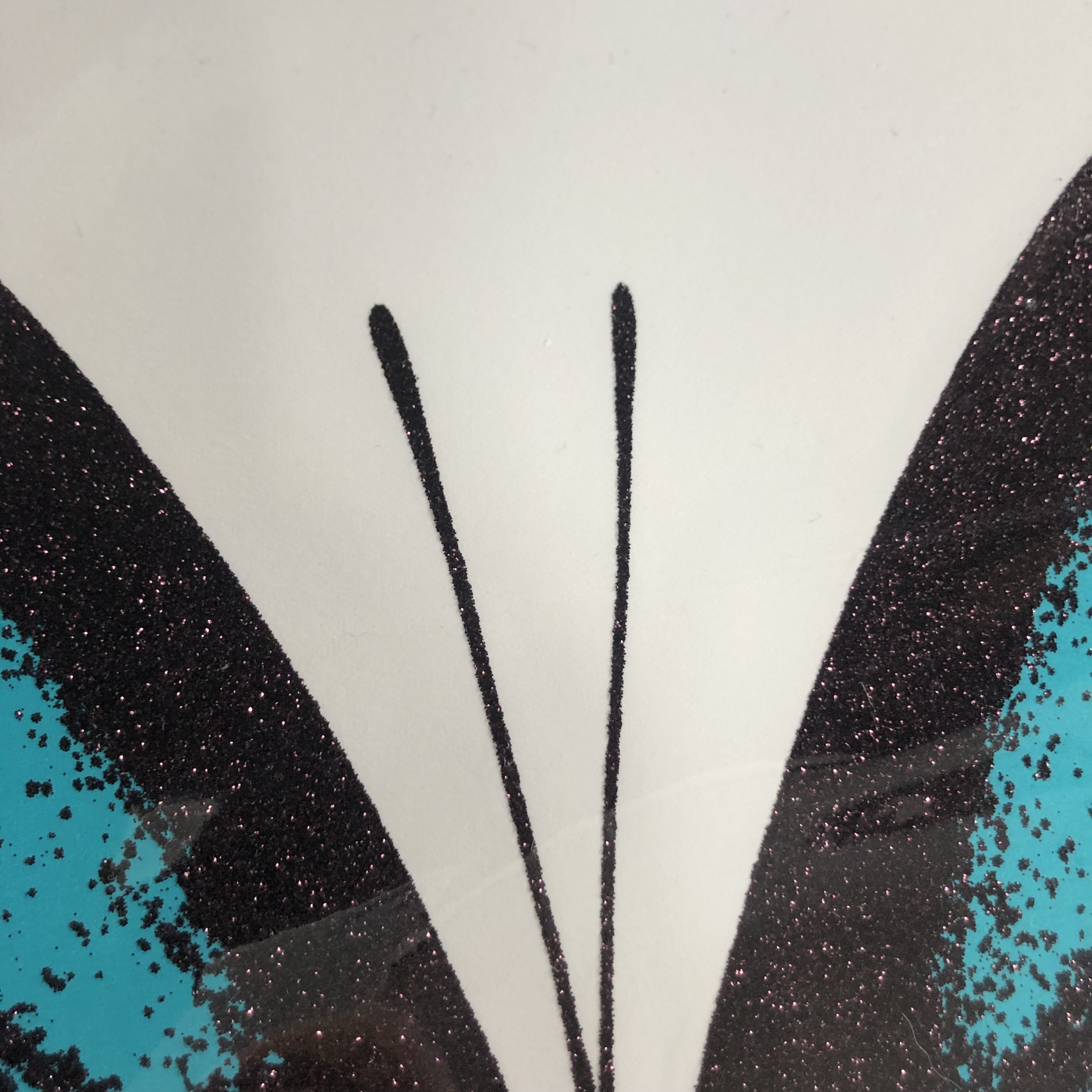 Claire Robinson - 'Papilio Ulysses - Turquoise.' Butterfly Print with Diamond Dust.