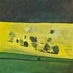 Elaine Kazimierczuk Black, Yellow, Green Wychwood Art 76 x 76cm