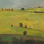 Elaine Kazimierczuk Grey, Yellow, Green Wychwood Art 76 x 76cm