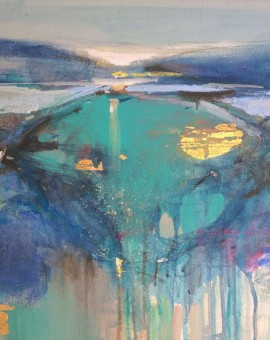 Magdalena Morey | Interlude 4 | Abstract Landscape Painting | WychwoodArt