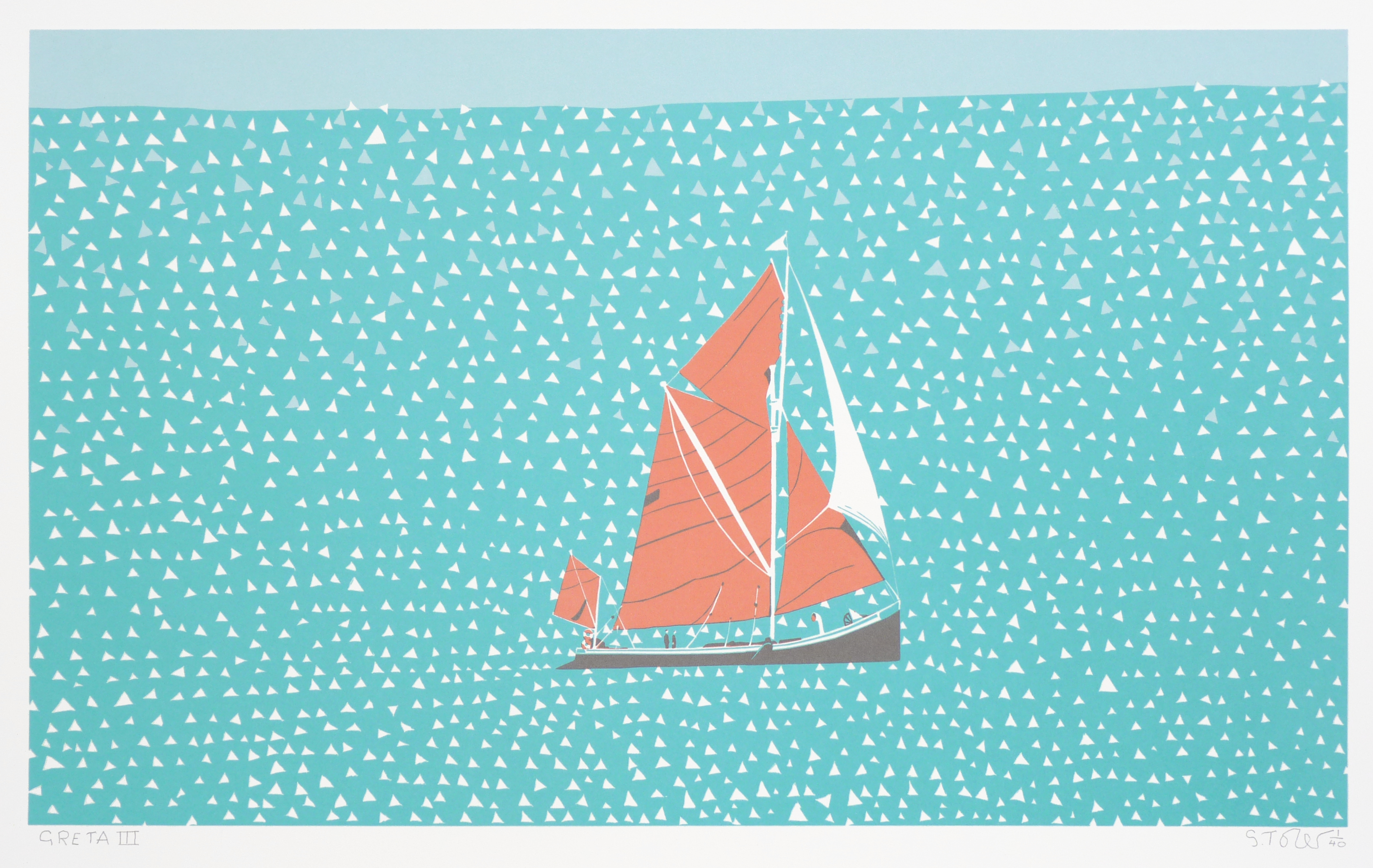 greta simon tozer artist boat painting seascape