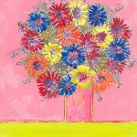 Springtime Amy Christie abstract floral flowers painting canvas art pink contemporary print
