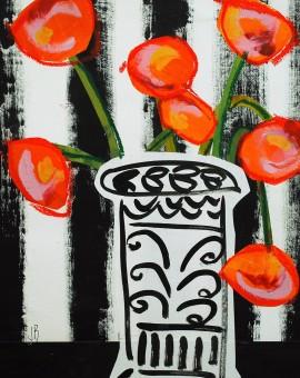 Jenny Balmer_Rococo Vase and flowers_Wychwood Art
