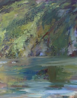 Joanna Commings Reflections Trees reflection water acrylics woods light
