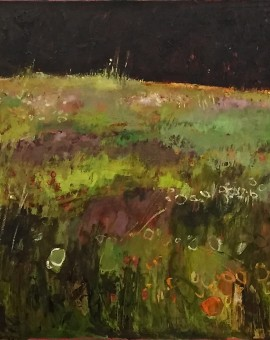 Elaine Kazimierczuk Tuscany Meadow with Orange and White Flowers Wychwood art 78 x 127cm