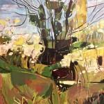 Elaine Kazimierczuk,Spring Hedgerow with Ivy Clad Tree, near Burford, Whychwood Art