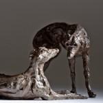 Jane Shaw : Dominance II : Pair of Lurchers : Bronze animal sculptures : Dogs : 4