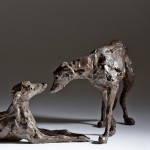 Jane Shaw : Dominance II : Pair of Lurchers : Bronze animal sculptures : Dogs : 7